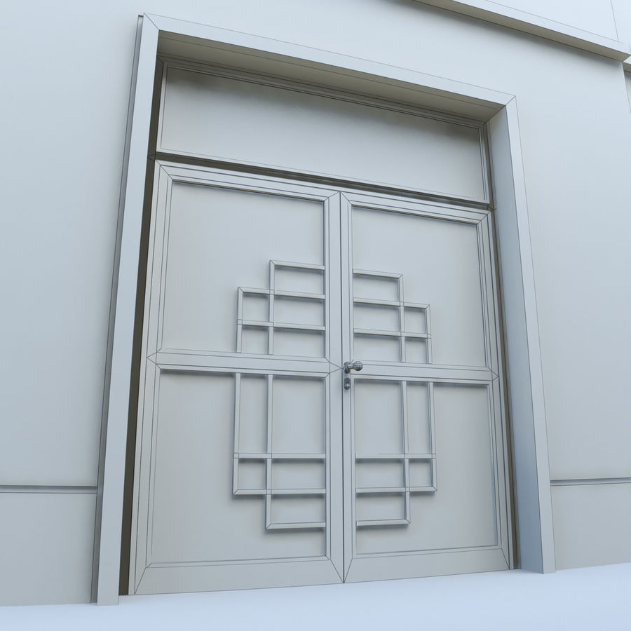 Door - Portal - Cityscape royalty-free 3d model - Preview no. 8