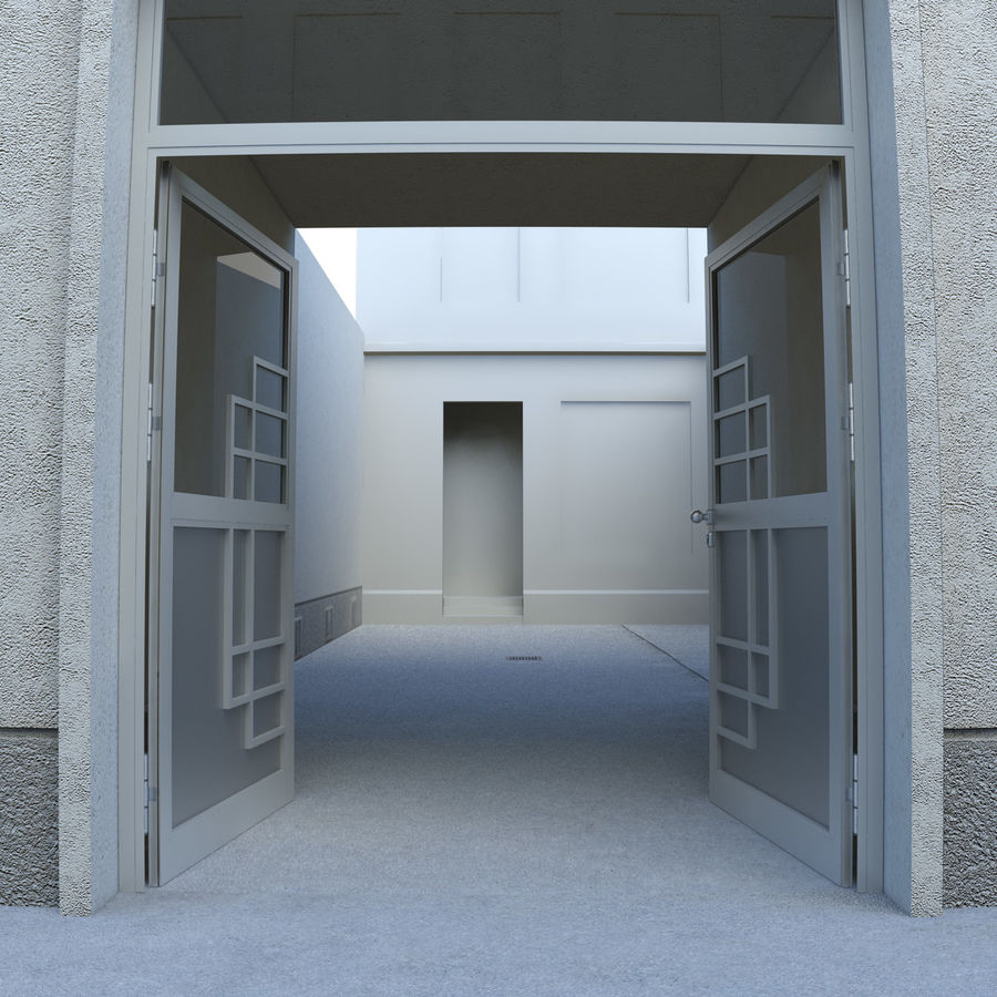 Door - Portal - Cityscape royalty-free 3d model - Preview no. 3