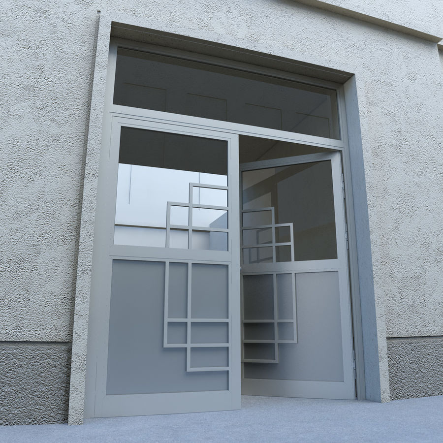 Door - Portal - Cityscape royalty-free 3d model - Preview no. 1