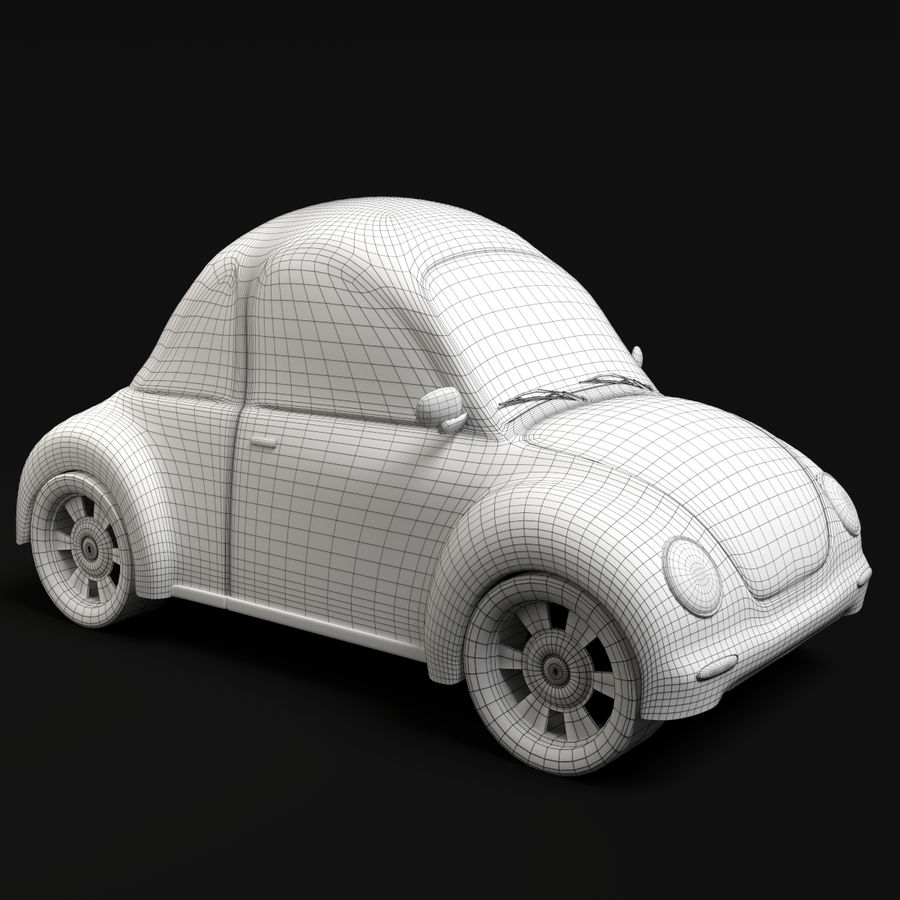 Cartoon Car 2 royalty-free 3d model - Preview no. 7
