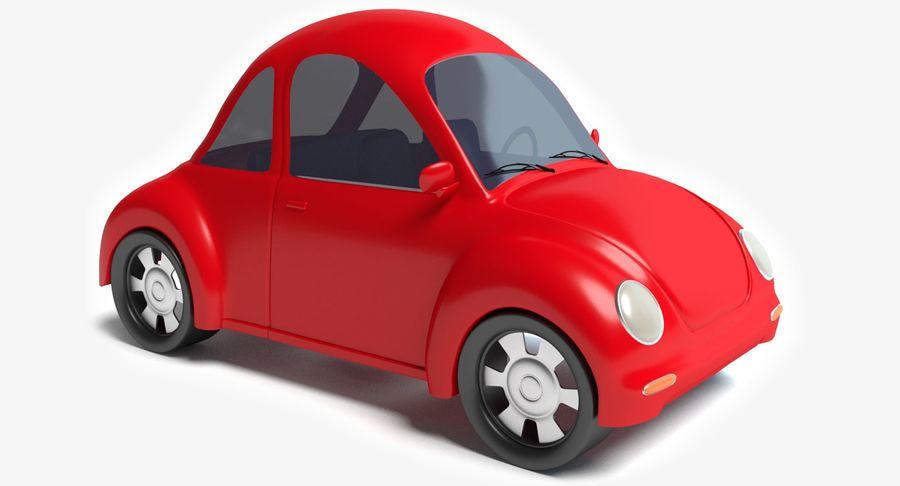 Cartoon Car 2 royalty-free 3d model - Preview no. 2