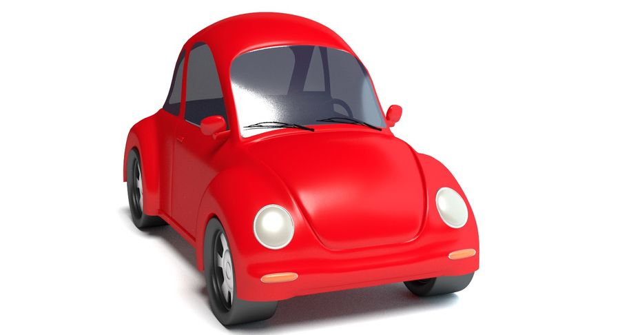 Cartoon Car 2 royalty-free 3d model - Preview no. 3