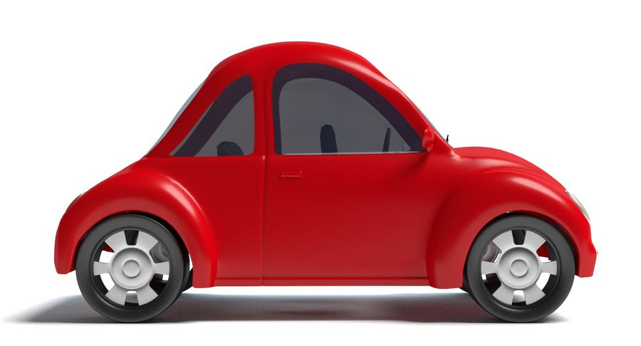 Cartoon Car 2 royalty-free 3d model - Preview no. 4