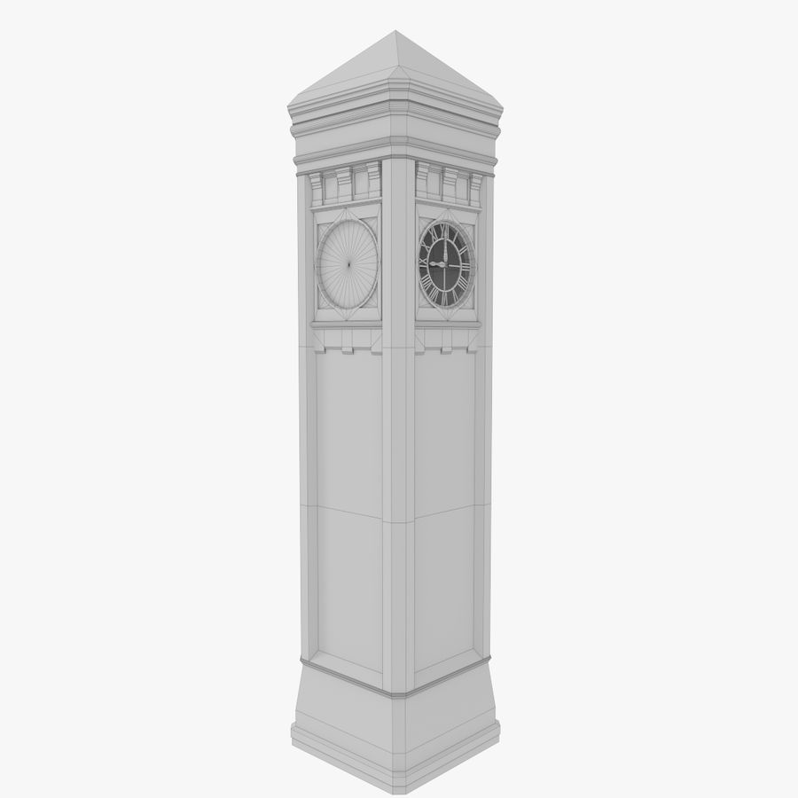 Klokkentoren drie met interieur royalty-free 3d model - Preview no. 16