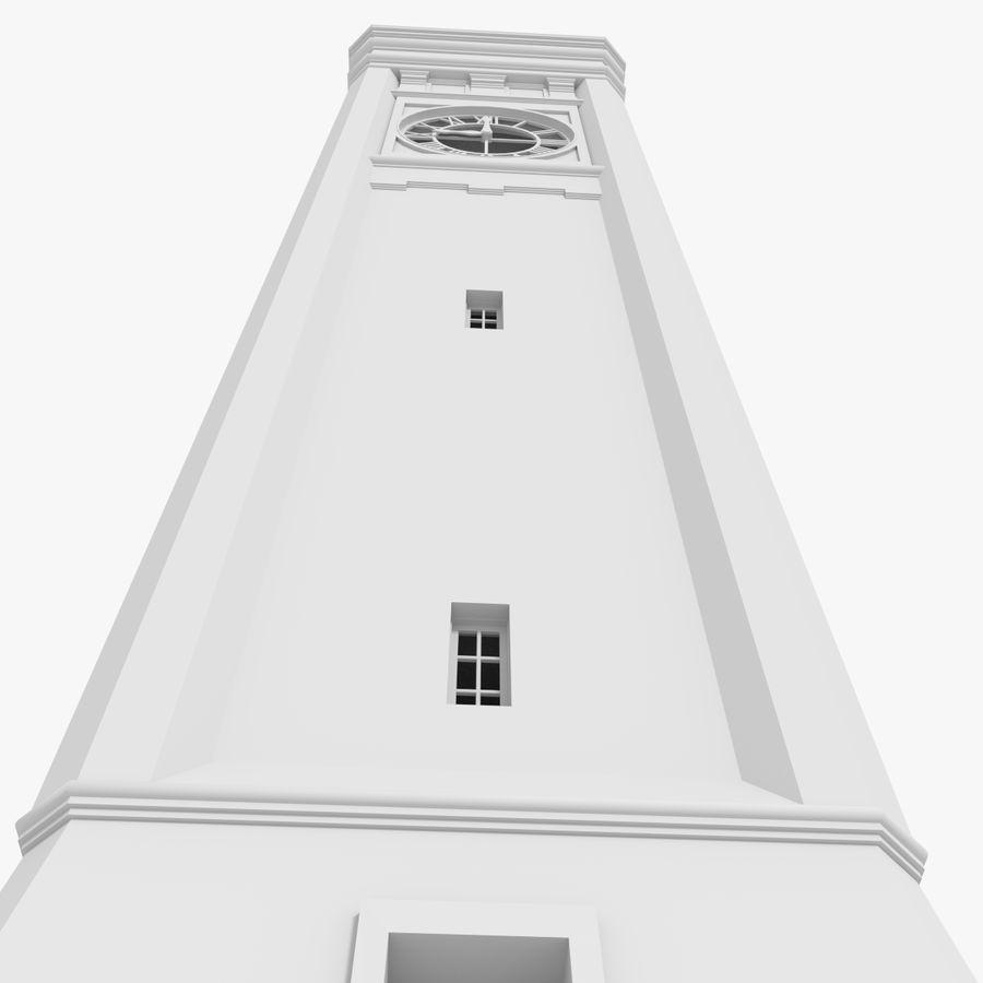 Klokkentoren drie met interieur royalty-free 3d model - Preview no. 7