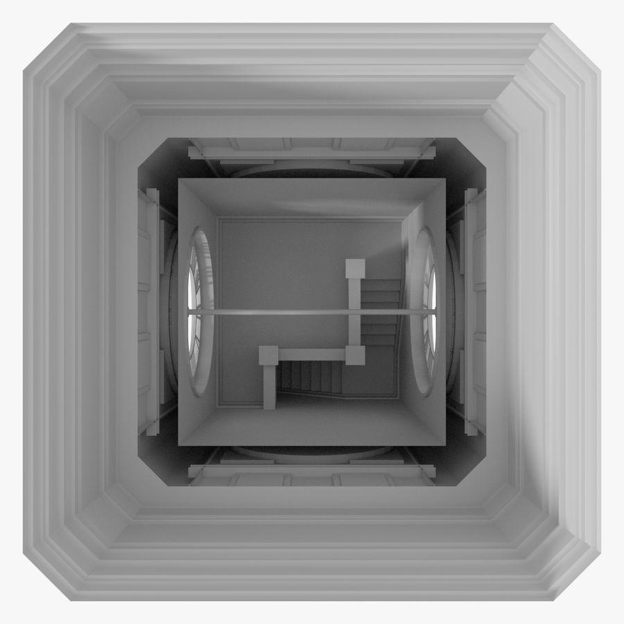 Klokkentoren drie met interieur royalty-free 3d model - Preview no. 12