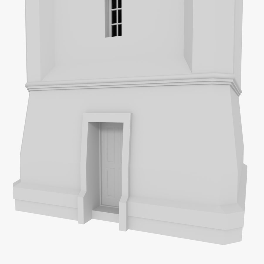 Klokkentoren drie met interieur royalty-free 3d model - Preview no. 6