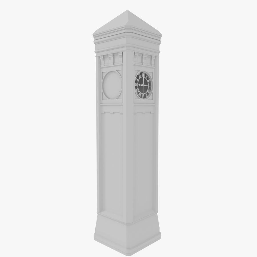 Klokkentoren drie met interieur royalty-free 3d model - Preview no. 4