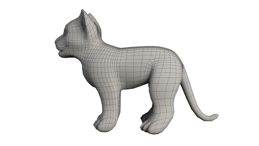 Ręcznie malowany tygrys royalty-free 3d model - Preview no. 7