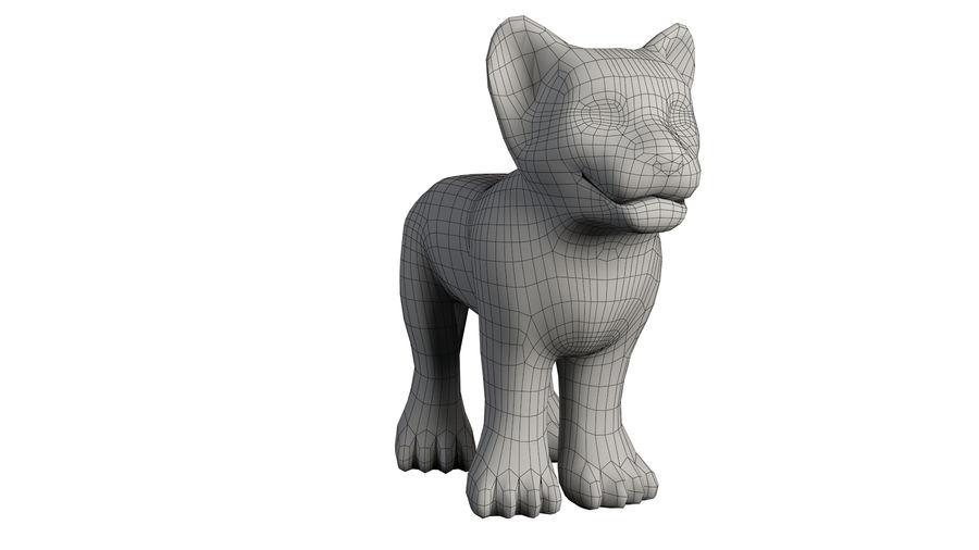 Ręcznie malowany tygrys royalty-free 3d model - Preview no. 9