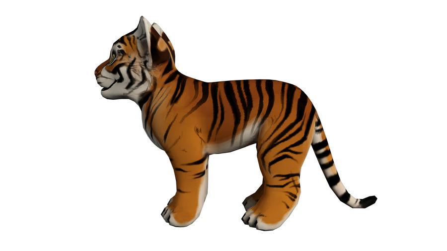 Ręcznie malowany tygrys royalty-free 3d model - Preview no. 3
