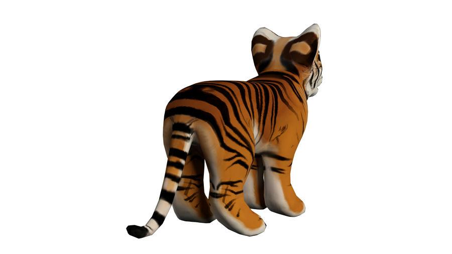Ręcznie malowany tygrys royalty-free 3d model - Preview no. 4