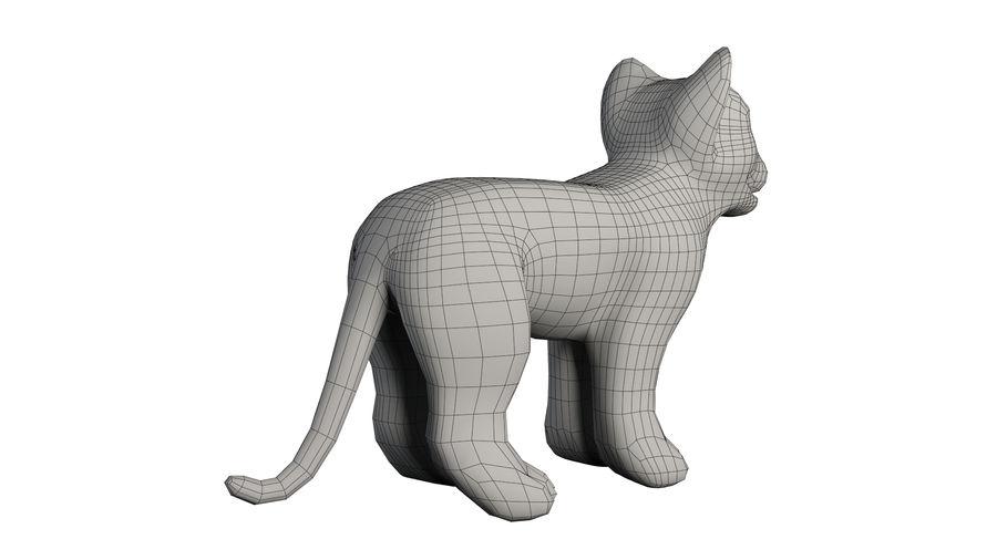Ręcznie malowany tygrys royalty-free 3d model - Preview no. 8