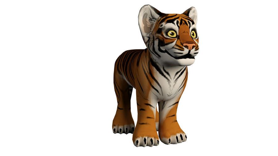 Ręcznie malowany tygrys royalty-free 3d model - Preview no. 5