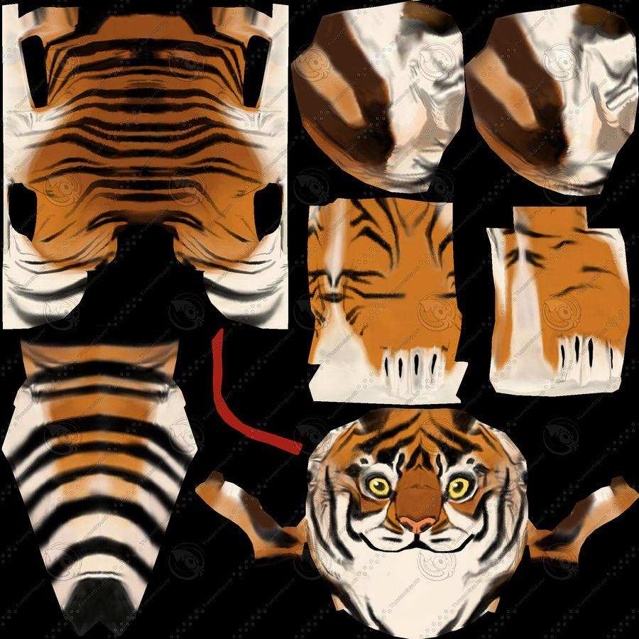 Ręcznie malowany tygrys royalty-free 3d model - Preview no. 10