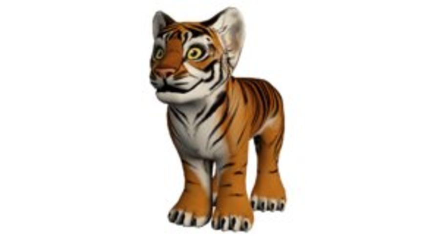 Ręcznie malowany tygrys royalty-free 3d model - Preview no. 1