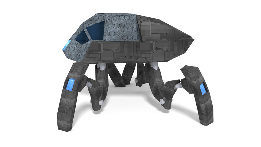 SciFi Spider royalty-free 3d model - Preview no. 2