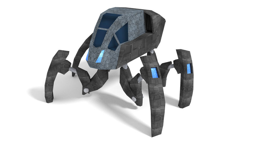 SciFi Spider royalty-free 3d model - Preview no. 1