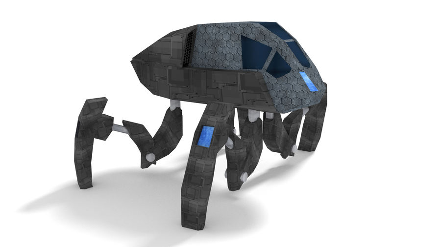SciFi Spider royalty-free 3d model - Preview no. 5