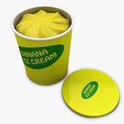 Ice Cream - Banana 3d model