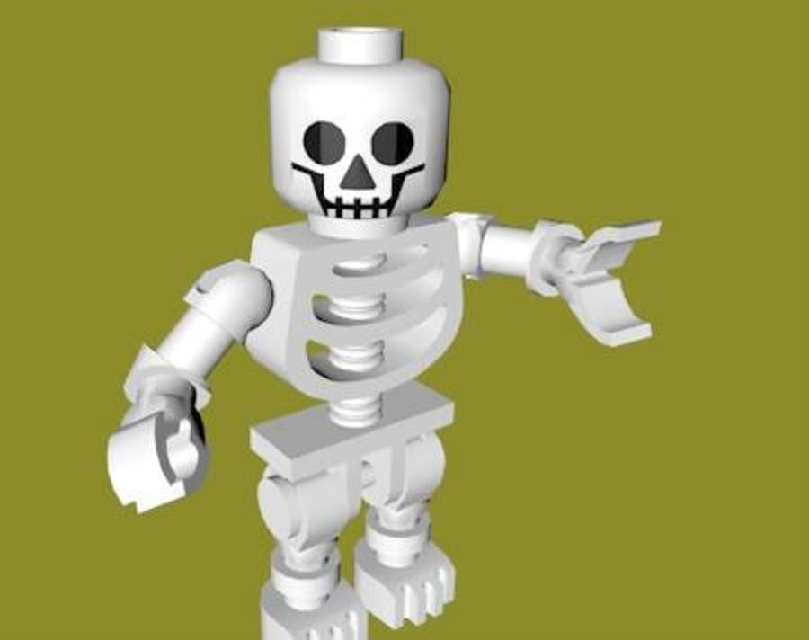 LEGO Skeleton (Rigged) royalty-free 3d model - Preview no. 4