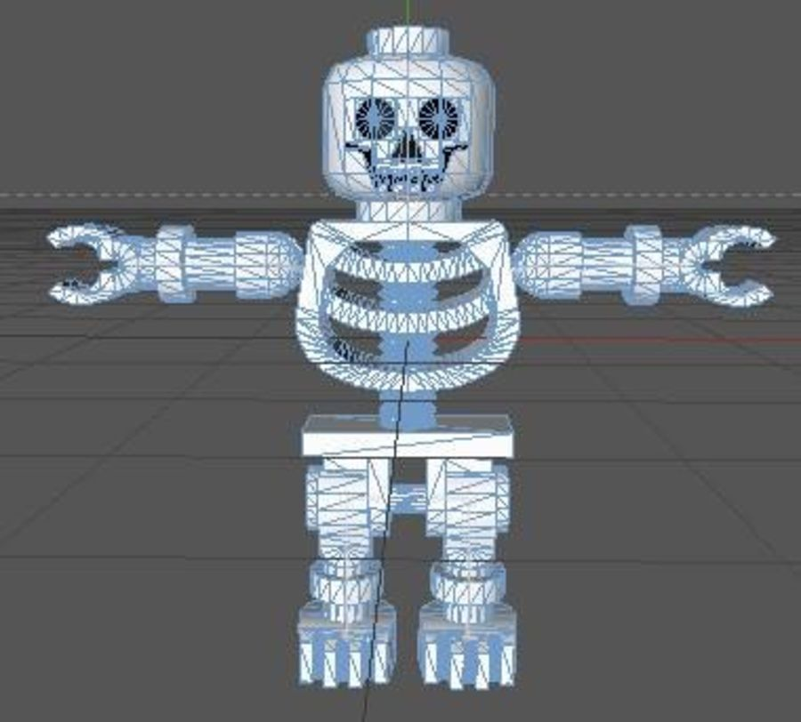 LEGO Skeleton (Rigged) royalty-free 3d model - Preview no. 7