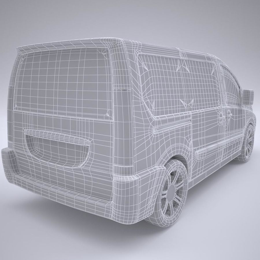 Fiat_Car royalty-free 3d model - Preview no. 5