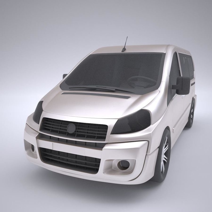 Fiat_Car royalty-free 3d model - Preview no. 3