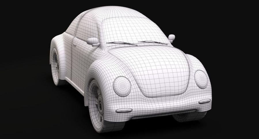 Cartoon auto royalty-free 3d model - Preview no. 8