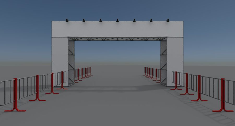 Gate royalty-free 3d model - Preview no. 6