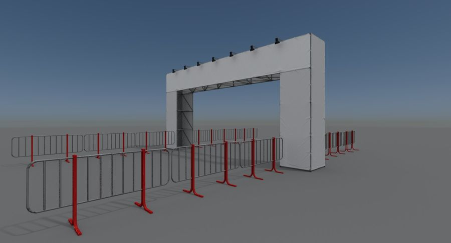 Gate royalty-free 3d model - Preview no. 7