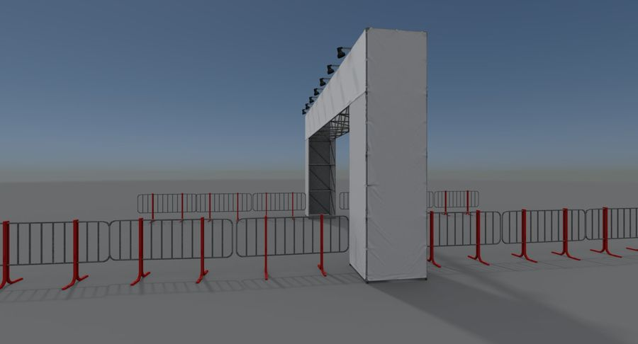 Gate royalty-free 3d model - Preview no. 2