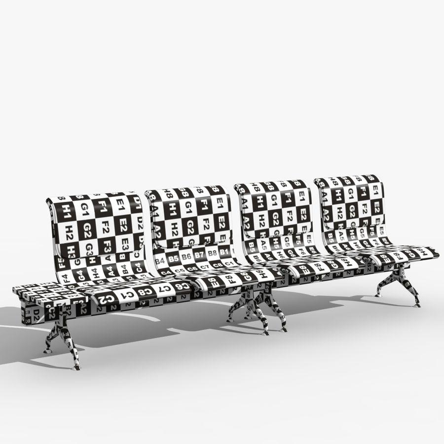 Modelo de asientos del aeropuerto royalty-free modelo 3d - Preview no. 2