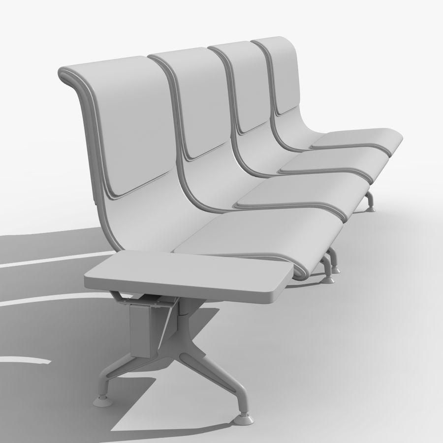 Modelo de asientos del aeropuerto royalty-free modelo 3d - Preview no. 6