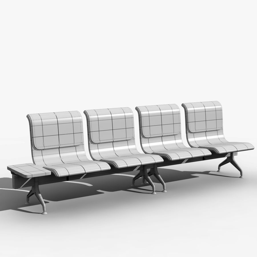 Modelo de asientos del aeropuerto royalty-free modelo 3d - Preview no. 4