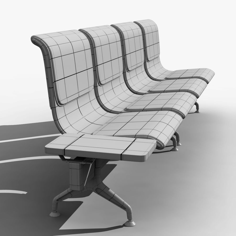 Modelo de asientos del aeropuerto royalty-free modelo 3d - Preview no. 7