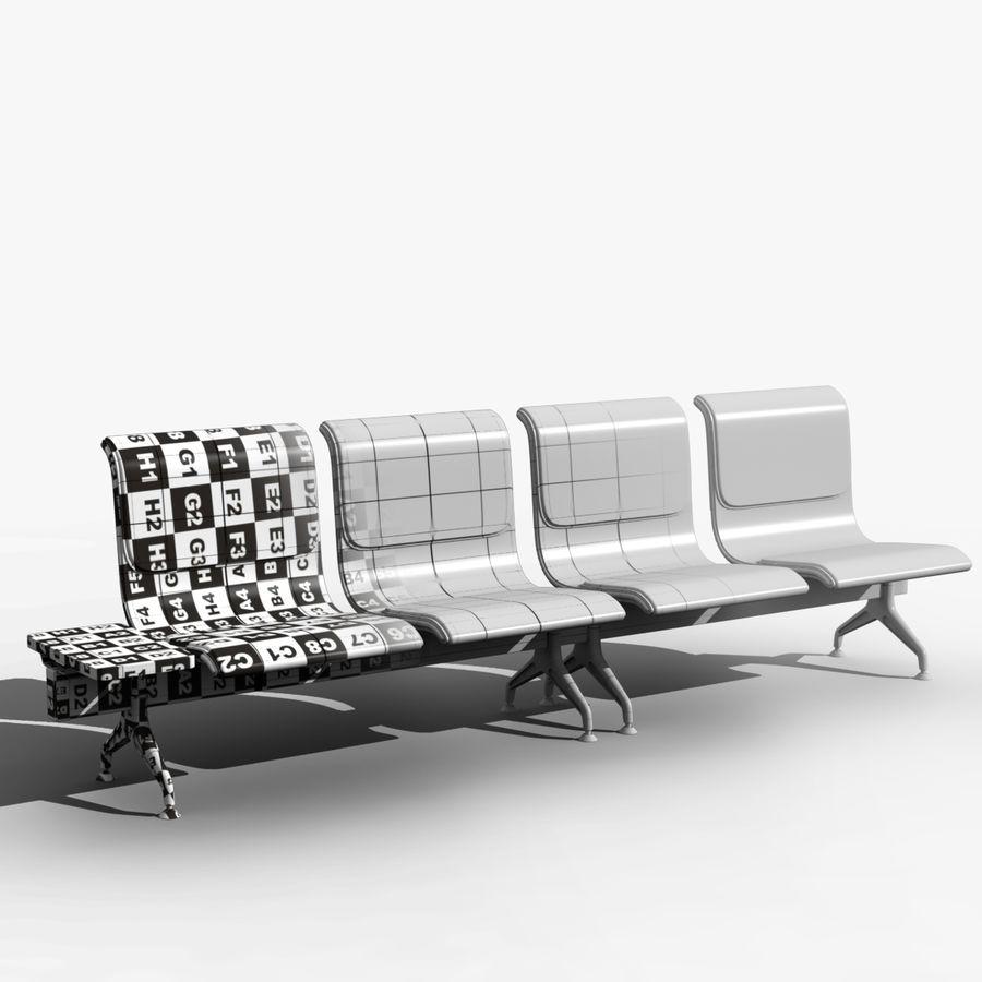 Modelo de asientos del aeropuerto royalty-free modelo 3d - Preview no. 1