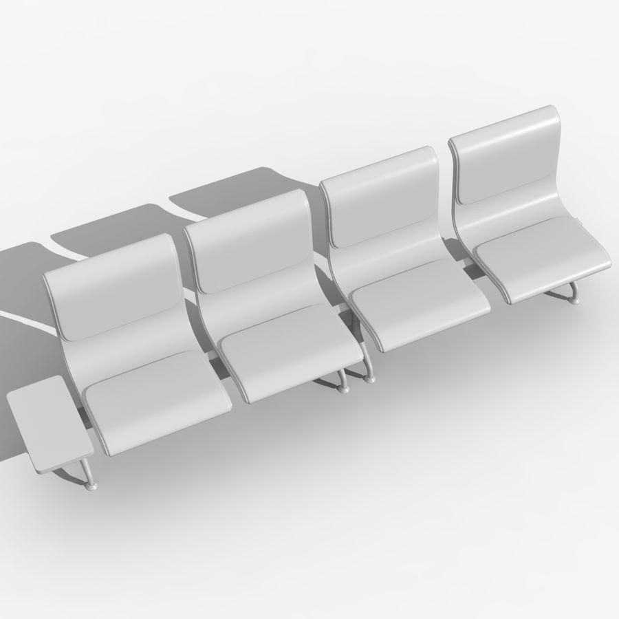 Modelo de asientos del aeropuerto royalty-free modelo 3d - Preview no. 9