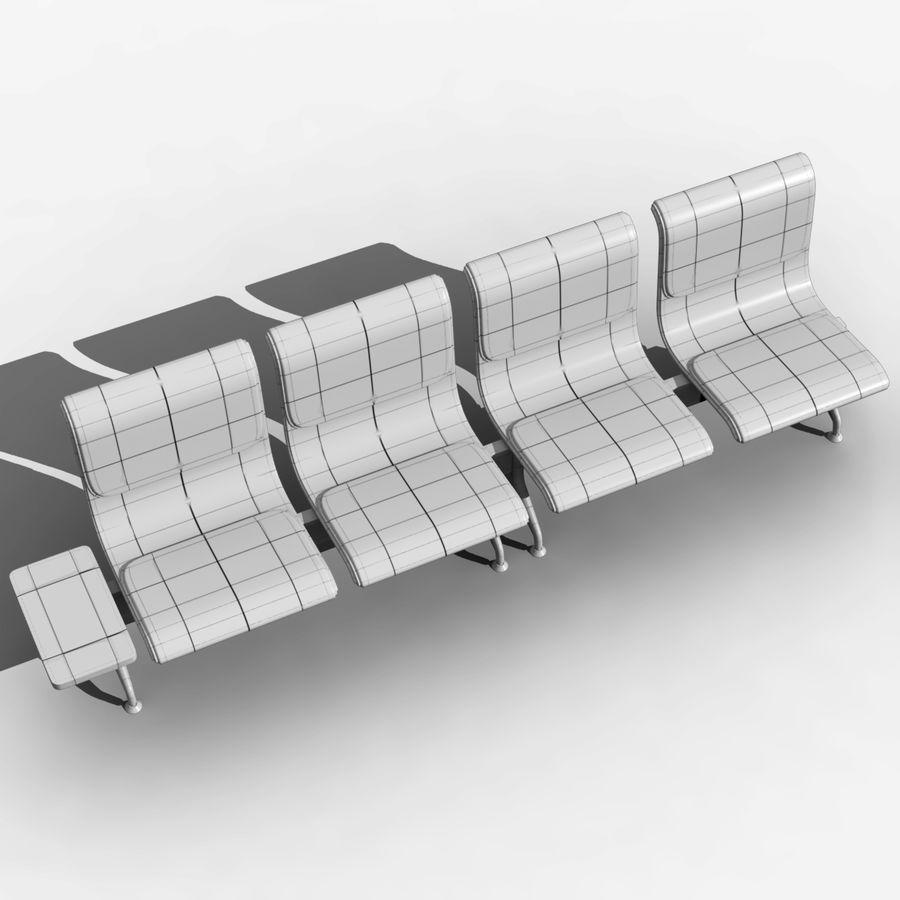 Modelo de asientos del aeropuerto royalty-free modelo 3d - Preview no. 10