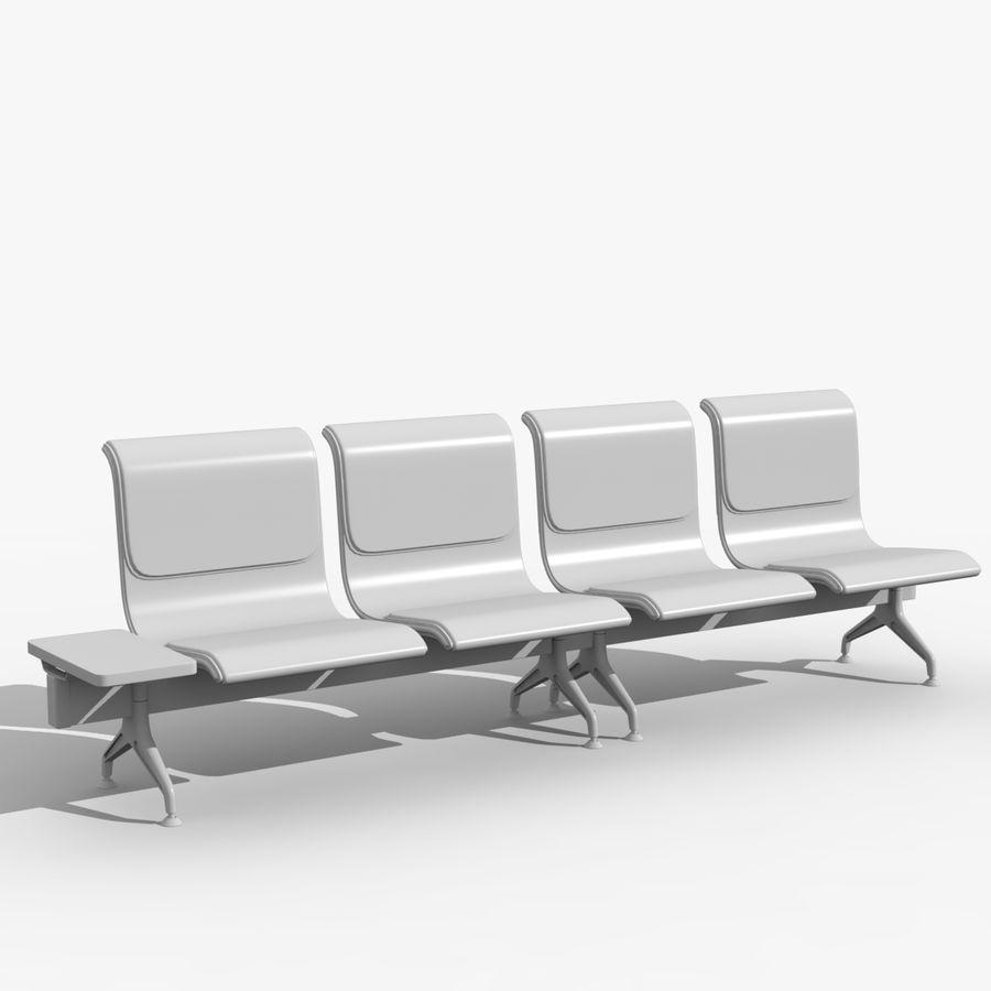 Modelo de asientos del aeropuerto royalty-free modelo 3d - Preview no. 3