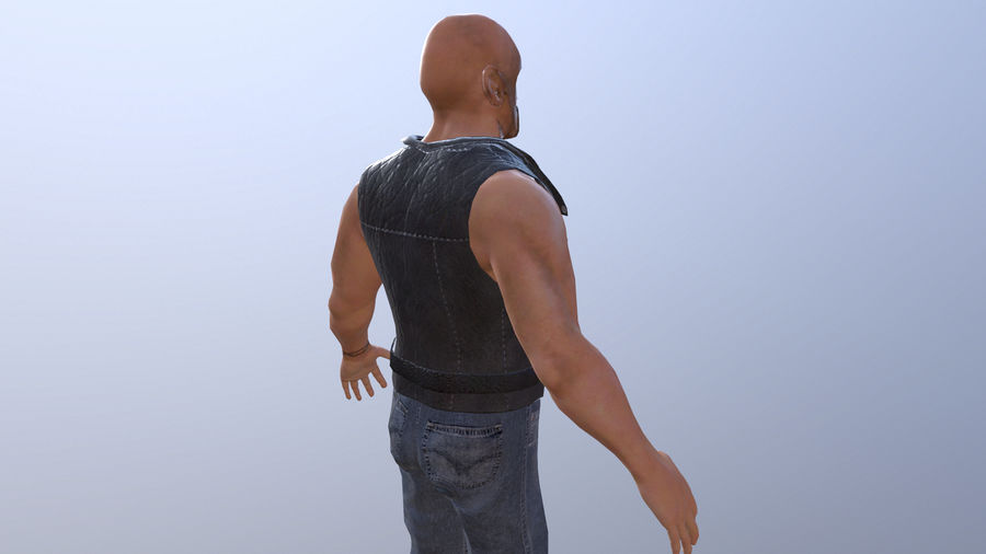 Biker Character royalty-free 3d model - Preview no. 3