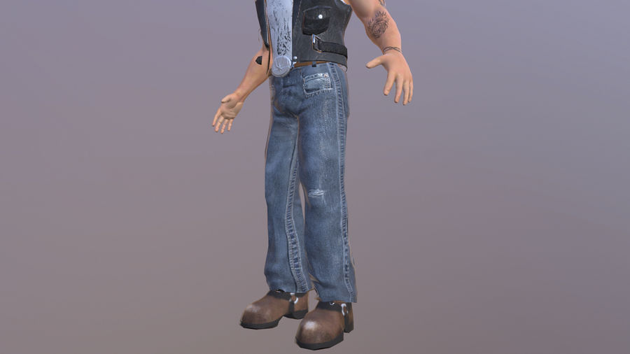 Biker Character royalty-free 3d model - Preview no. 4