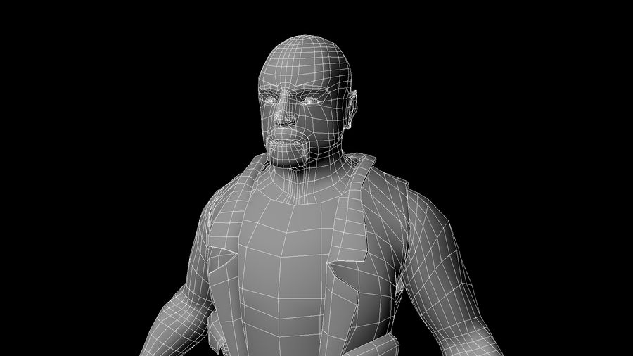 Biker Character royalty-free 3d model - Preview no. 7