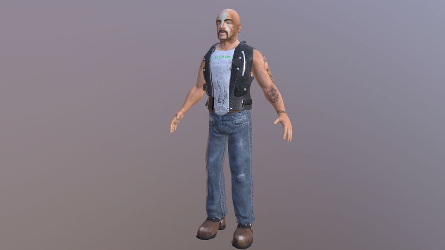 Biker Character royalty-free 3d model - Preview no. 1