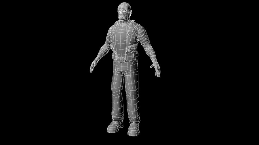 Biker Character royalty-free 3d model - Preview no. 5