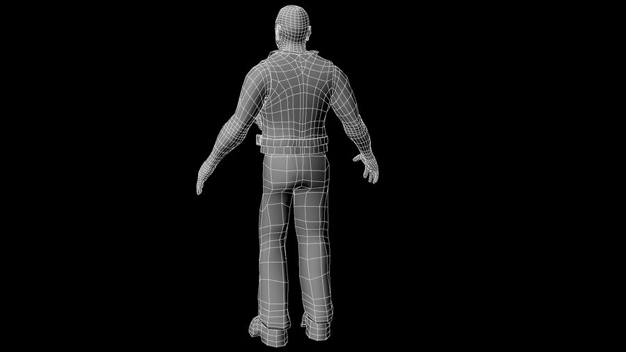 Biker Character royalty-free 3d model - Preview no. 6