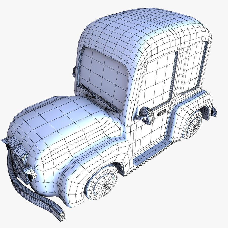 漫画車3 royalty-free 3d model - Preview no. 10