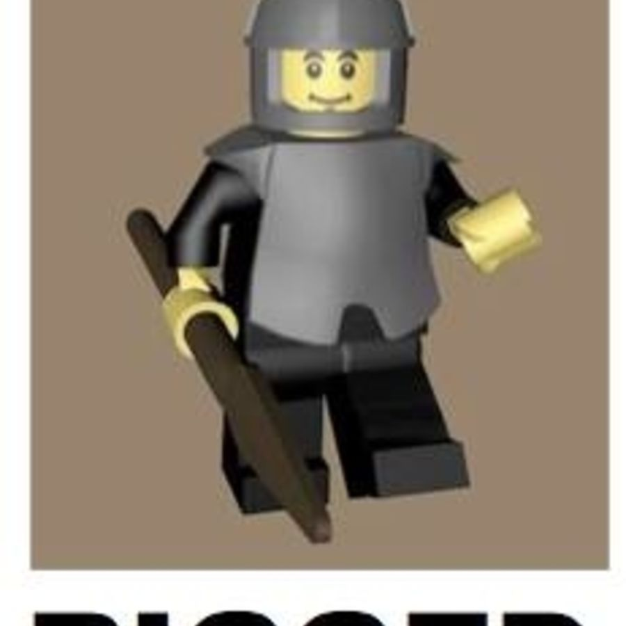 LEGO Spearman Character (rigged) royalty-free 3d model - Preview no. 1
