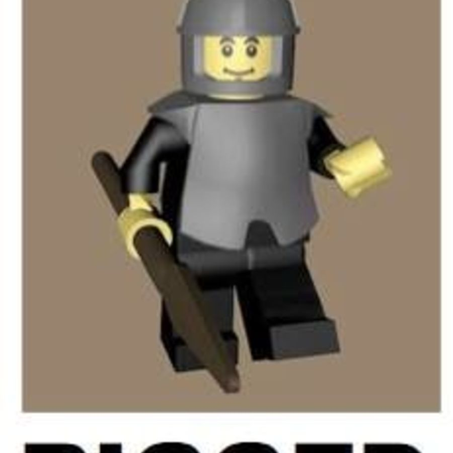 LEGO Spearman Character (truccato) royalty-free 3d model - Preview no. 1