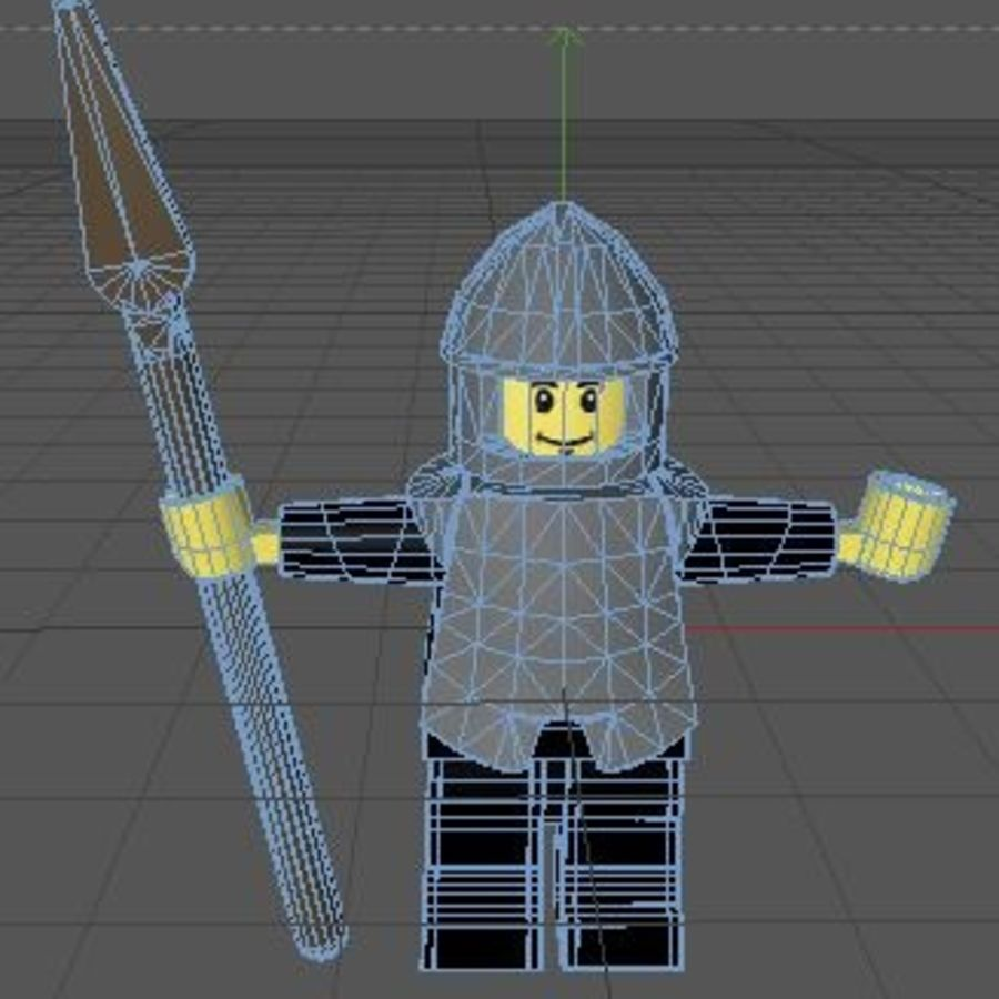 LEGO Spearman Character (rigged) royalty-free 3d model - Preview no. 5